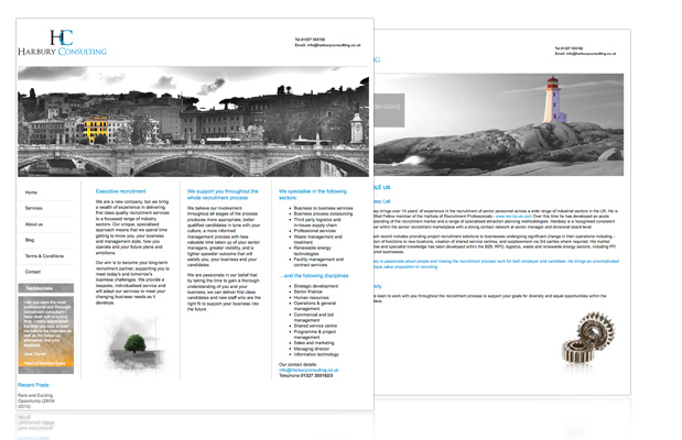 harbury web design portfolio image