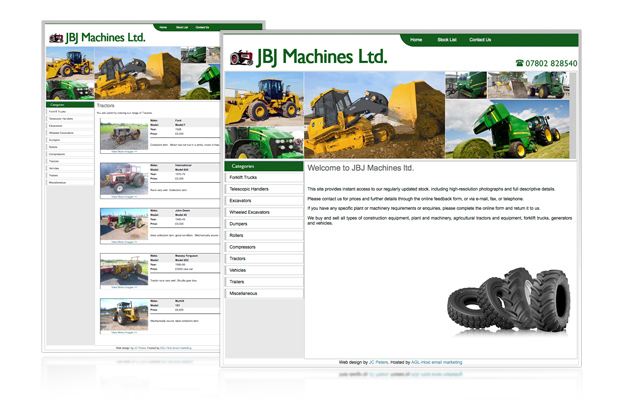 jbj machines web design portfolio image